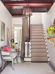 carpet on stairs. a carpeted stairway quiets your home by softening footsteps and absorbing sound waves. stairs are safer than hard-surface stairs, as they lessen carpet on
