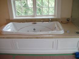 Bed Bath Bathroom With Corner Shower And Glass Enclosure Tiling Ideas  Jetted Tub Tile