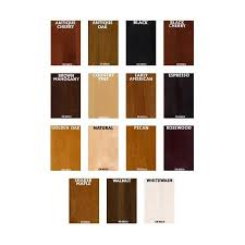 Saman Water Based Stain Color Chart General Finishes Water Based Wood Stains Color Chart
