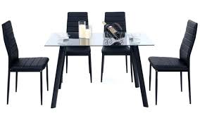 outstanding glass top dining table set 4 chairs high mainstays dining table set designs glass top