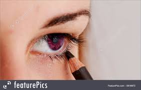 pretty lady wearing makeup for eyes royalty free stock picture