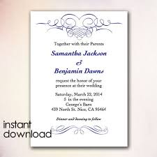 Invitations In Word Template Microsoft Wedding Invitation Templates Wedding Invitations Template