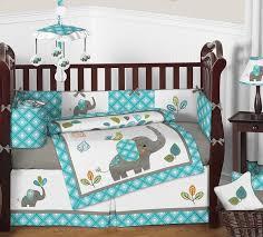 sweet jojo designs mod elephant 9 piece crib bedding set reviews for comforter 1