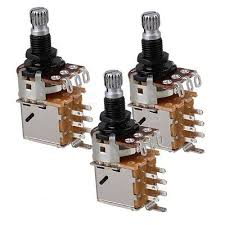 3 pieces b500k push pull electric bass guitar control pot b500k push pull guitar control pot potentiometer chrome tone switch set of 3