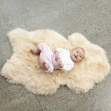 ecowool sheepskin baby rug