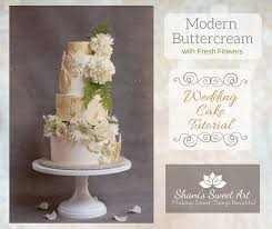 Modern Buttercream With Fresh Flowers Wedding Cake Tutorial