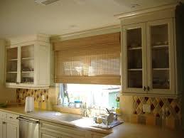 Roman Shades Outside Mount Bamboo Shade Kitchen Window Colorful Custom Wood Stove Backsplash Exterior