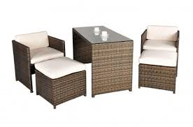 balcony garden furniture 4 seat dining