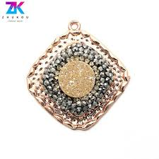 5pcs 28 30mm fashion jewelry making pendants for diy jewelry findings brass micro pave