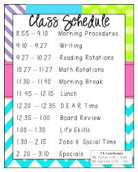 Block Schedule Template Week Schedules Save Your Sanity Classroom ...