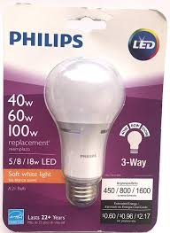2 Way Light Bulb Philips 40w 60w 100w 3 Way Led Lightbulb Amazon Com