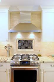 Amazing Hood Designs Kitchens Decoration With Stainless Steel Chimney Range  Hood Combined Recessed Lighting On Wall