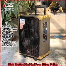 CHÍNH HÃNG] Loa Kéo Karaoke - Loa Kéo Giá Rẻ Cao Cấp Công Suất 1000W Isky  SKT-250 Siêu Bass 25cm Bluetooth 4.2 Âm Tha - Loa kéo Nhãn hiệu iSKY