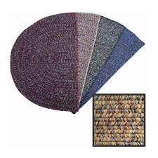 braided 4 half round rug beige