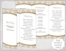 Free Tri Fold Wedding Program Templates For Microsoft Word Wedding