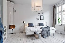 Scandinavian Interior with Blue Grey Textiles