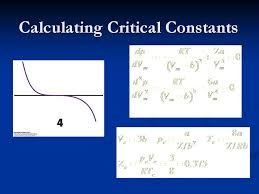 the two derivatives are solved using the van der waals equation figure 6 the calculation of the critical constants are another way to determine the
