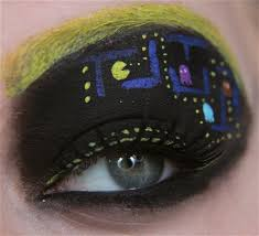 perfect for the next video game convention you go to crazy eye makeupmakeup