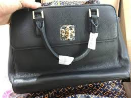 nwt tory burch black leather bag mercer dome satchel double zip 31385 msrp 535