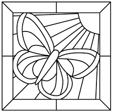 Stained Glass Coloring Pages Butterfly Coloringstar