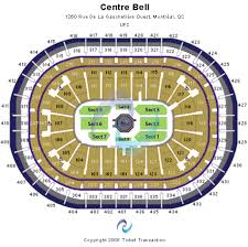Bell Center Montreal Seating Chart Cheap Centre Bell Tickets