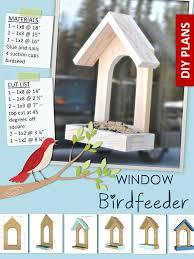 wooden window bird feeder