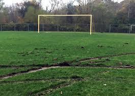 grass soccer field. Piver Field, Home To The Stonington High School Boy\u0027s Soccer Team, Was Torn  Up Grass Field S