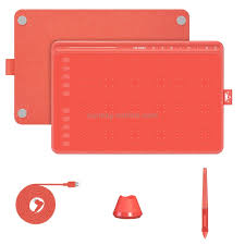 Click in the areas where you want to erase/break the line. Sunsky Huion Hs611 5080 Lpi Touch Strip Art Drawing Tablet For Fun With Battery Free Pen Pen Holder Red
