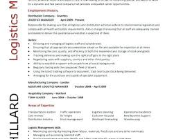 Logistics Management Resume Logistics Manager Resume Englishor Com