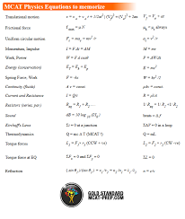 mcat physics equations sheet the gold standard mcat prep s