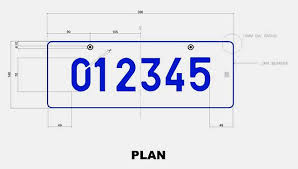 new car plate releaseOn a silver license plate  Editors Note