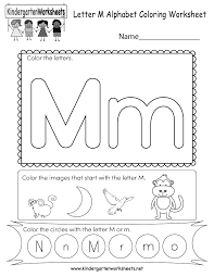 Recognizing letters and practicing to print letters is a fundamental start to learning to read and write. Math Worksheet Kindergarten Alphabet Worksheets Math Worksheet Coloring Letter M Printable Remarkable Free Remarkable Kindergarten Alphabet Worksheets Roleplayersensemble