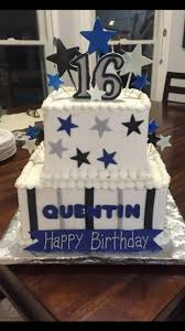 9 Blue 16th Birthday Cakes For Boys Photo Blue And Green Sweet 16