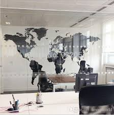 New Black Map Of The World Wall Sticker Office Background Wall Decal Creative Removable Vinyl Decals Home Decor World Map Wall Sticker Zebra Wall