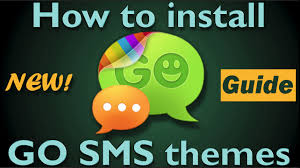 how to install go sms themes short version