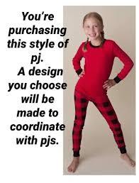 Buffalo Plaid Christmas Pajamas for children Lumberjack | Etsy