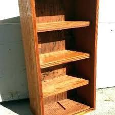 small rustic bookshelf wood shelf storage box shelves vertical horizontal home
