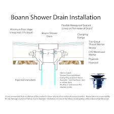 shower drain pipe size bathroom sink