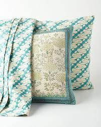 Turquoise Decorative Accessories Bunny Williams Turquoise Antique Batik Bed Throw 100 x 100 71