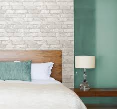 Next Bedroom Wallpaper Amazoncom Grey And White Brick Peel And Stick Wallpaper Home