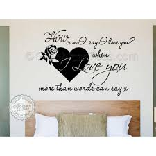 romantic bedroom wall art sticker e love more than words can say wall decor decal