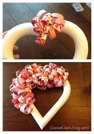 valentine deco mesh wreath instructions valentines day heart wreath with free tutorial valentine deco mesh wreath