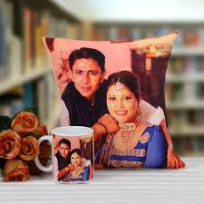 personalized cushion with mug