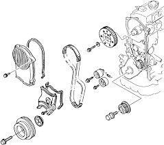 9 exploded view of the 2 2l engines timing belt cover assembly