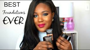 best summer foundations high end oily dry for black women makeup tutorial 2016 dark skin