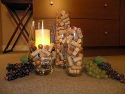While wall hangings and art have included wine bottles from some time, now  the actual corks are getting into the decorating act.