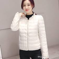 korean short women coats white feather cotton warm winter coat fashion jacket women outdoor jackets carhart jackets from superhotclothes 38 2 dhgate com