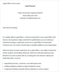 Compliance Officer Cover Letter 7 Legal Cover Letters Free Sample Example Format