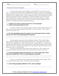 example of persuasive essaypersuasive essay examples  guided response click to print