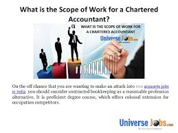 Charted Accountant What Is The Scope Of Work For A Chartered Accountant